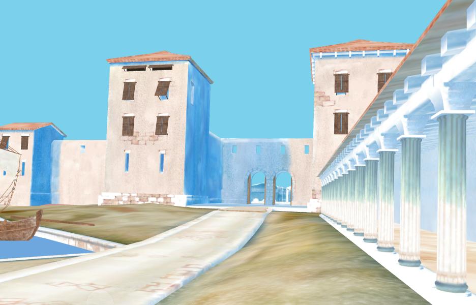 Entrée de la ville à l'époque romaine