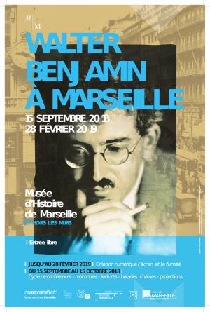 Affiche de l'exposition-dossier Walter Benjamin à Marseille