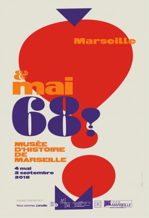 Affiche de l'exposition Marseille et mai 68