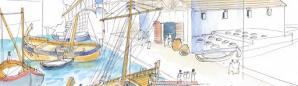 Entrepôt des docks à l'époque romaine